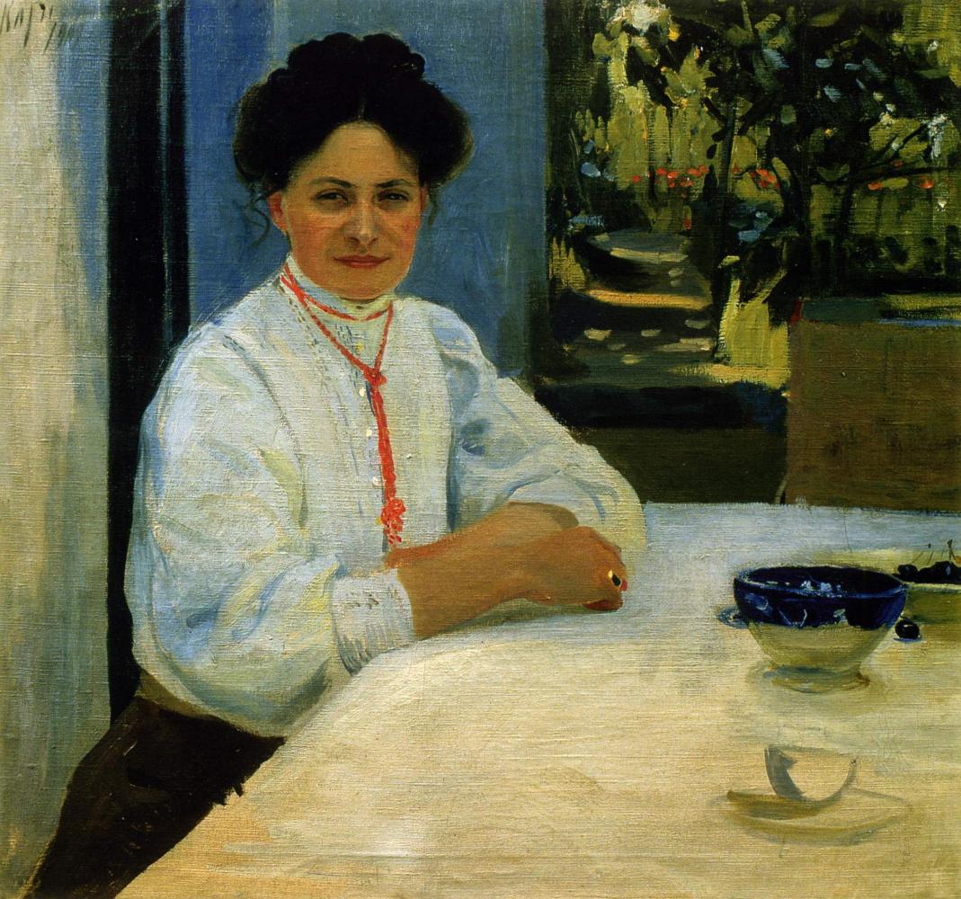 Alexander Murashko. Portrait of M. A. Murashko in Capri