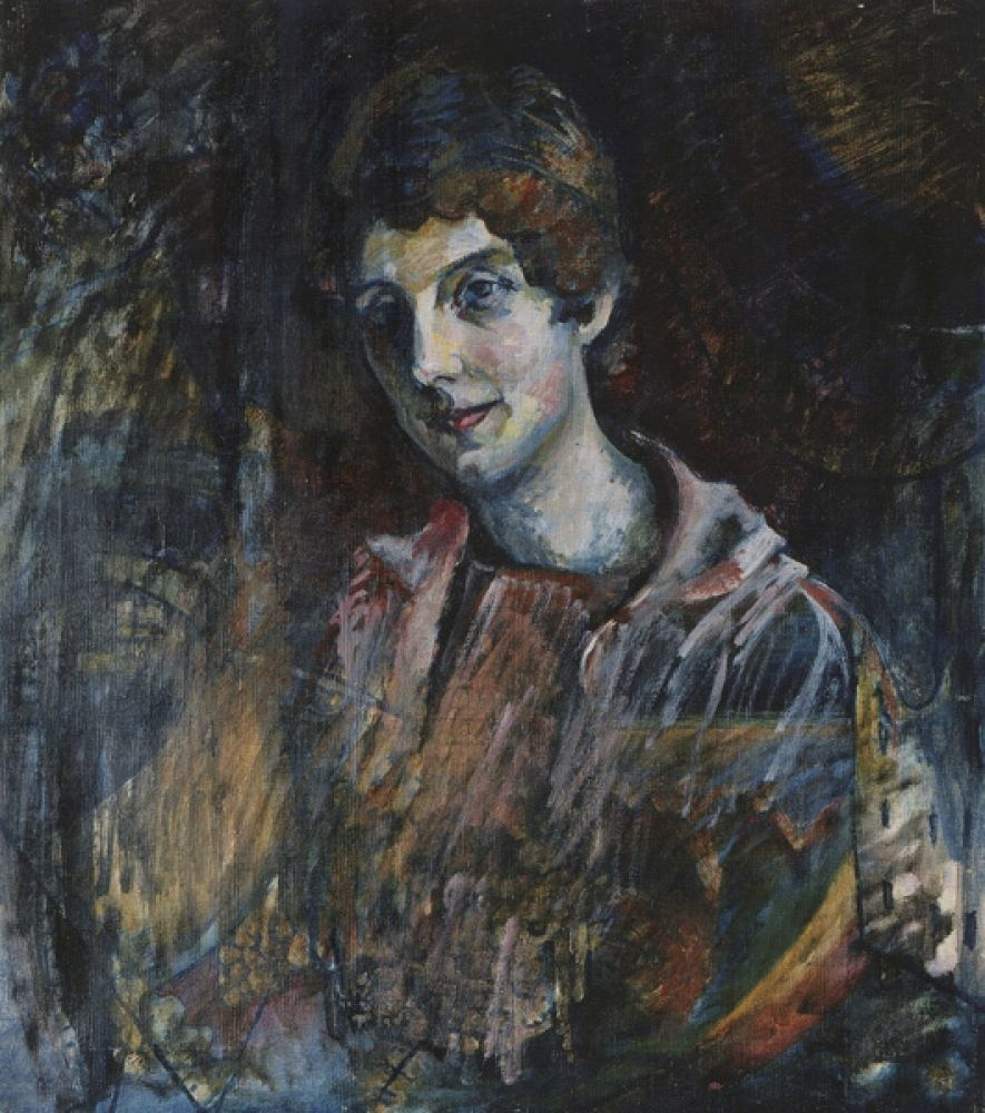 Wassily Kandinsky. Portrait of Nina Nikolaevna Kandinsky, the artist's wife