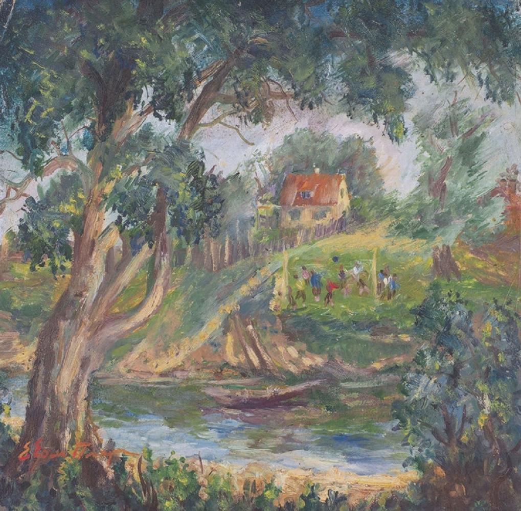 Efrosinya Fedoseevna Ermilova-Platov. By the river