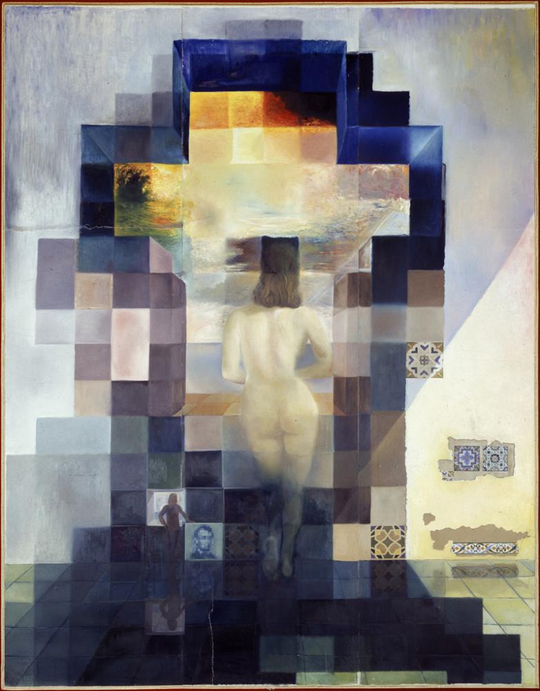 Сальвадор Дали. Обнажённая Гала, смотрящая на море, которая на расстоянии 18 метров трансформируется в портрет Авраама Линкольна