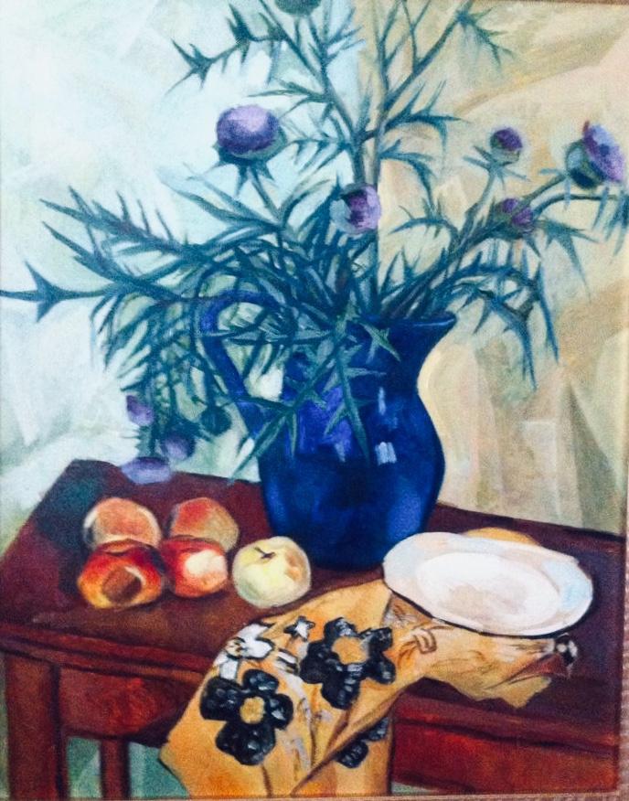 Elena Valentinovna Skrek. Blue jug