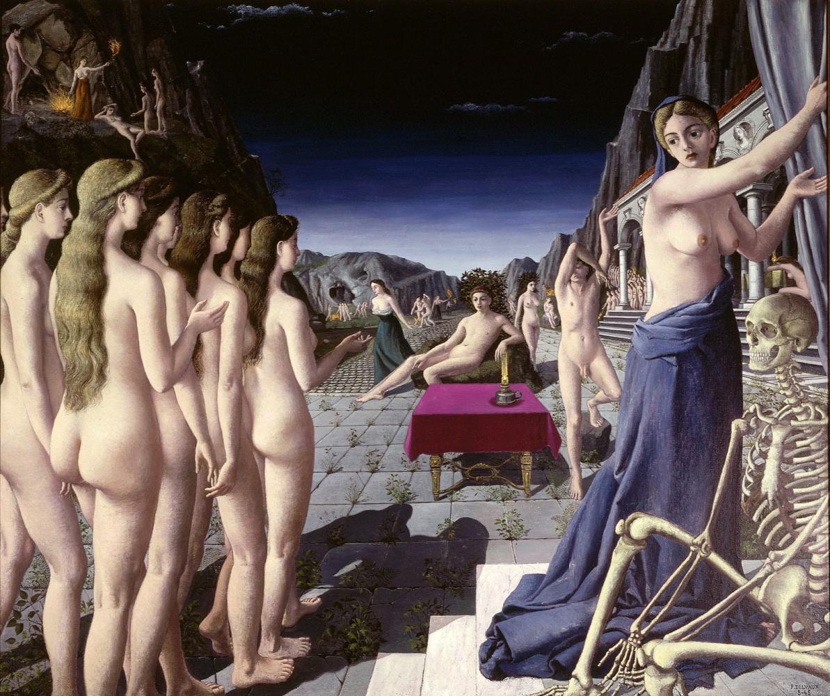 Paul Delvo. The fire. 1945