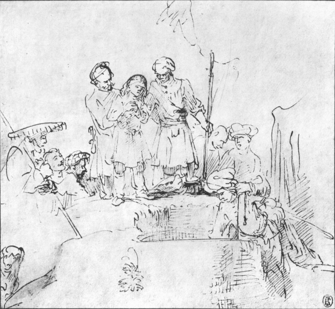 Рембрандт Харменс ван Рейн. Братья прячут Иосифа в колодце