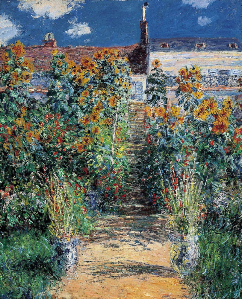 "Claude Monet. ""The Artist's Garden at Vetheuil"""