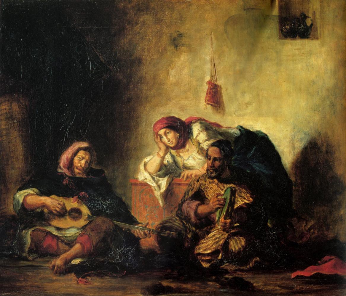 Eugene Delacroix. Jewish musicians in Mogador