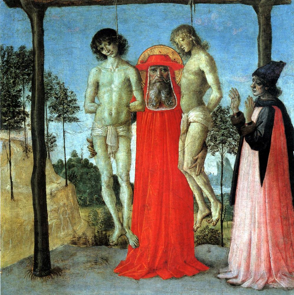 Франсуа Перуджино. Святой Иероним, поддерживающий двух казненных