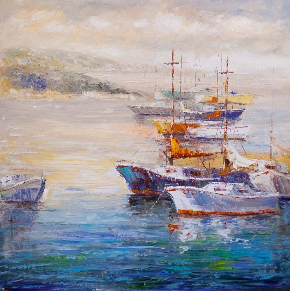(no name). Boats at the pier N6