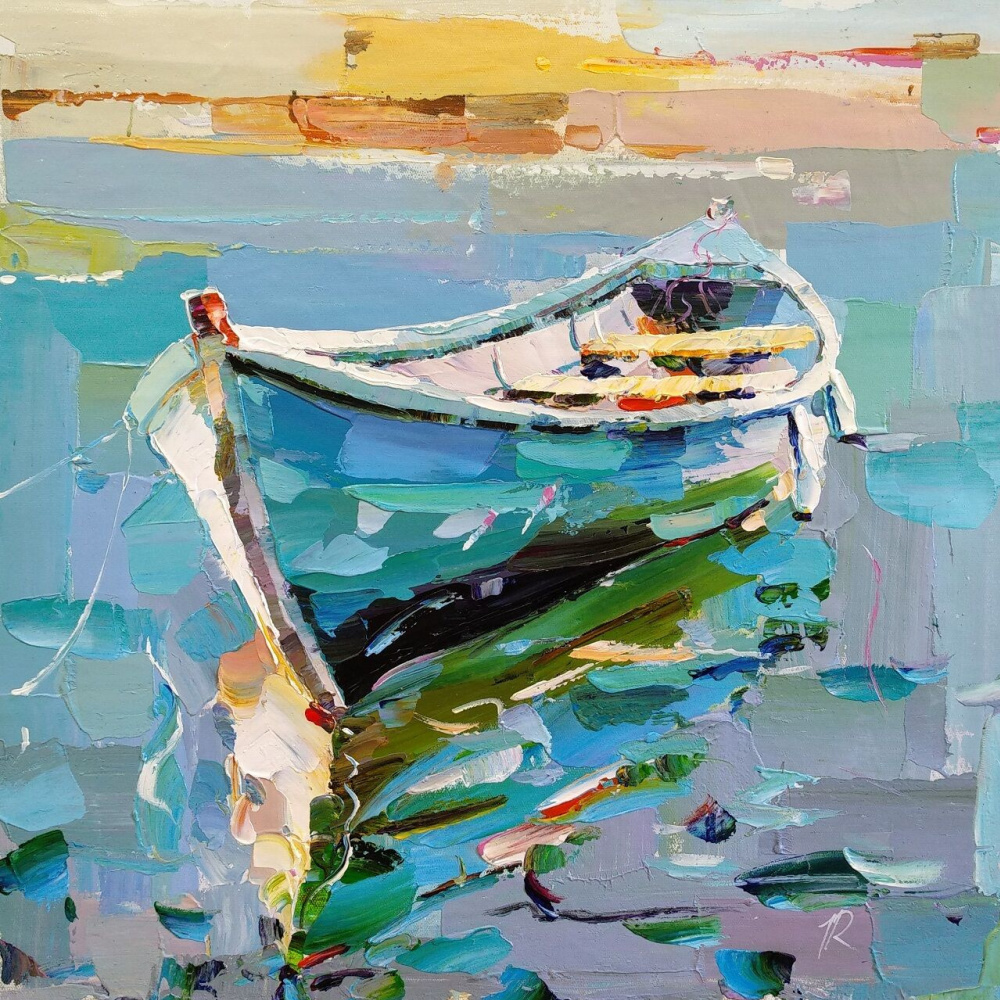 Jose Rodriguez. Boat on the water N7