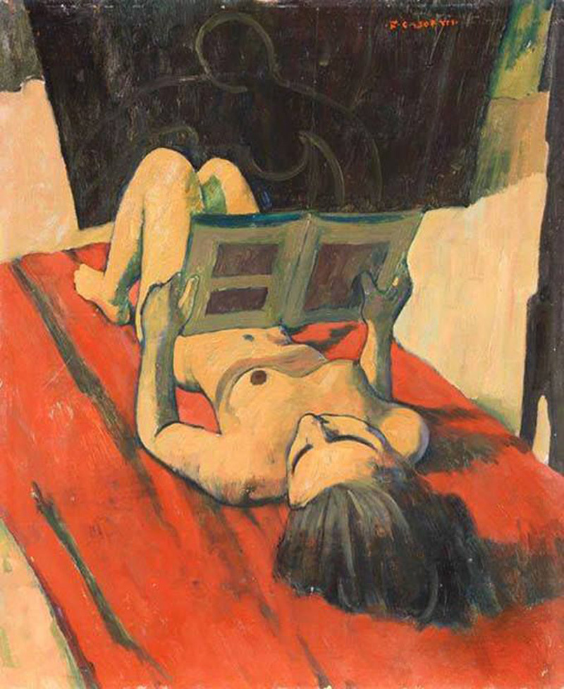 Felice Casorati. A woman who reads
