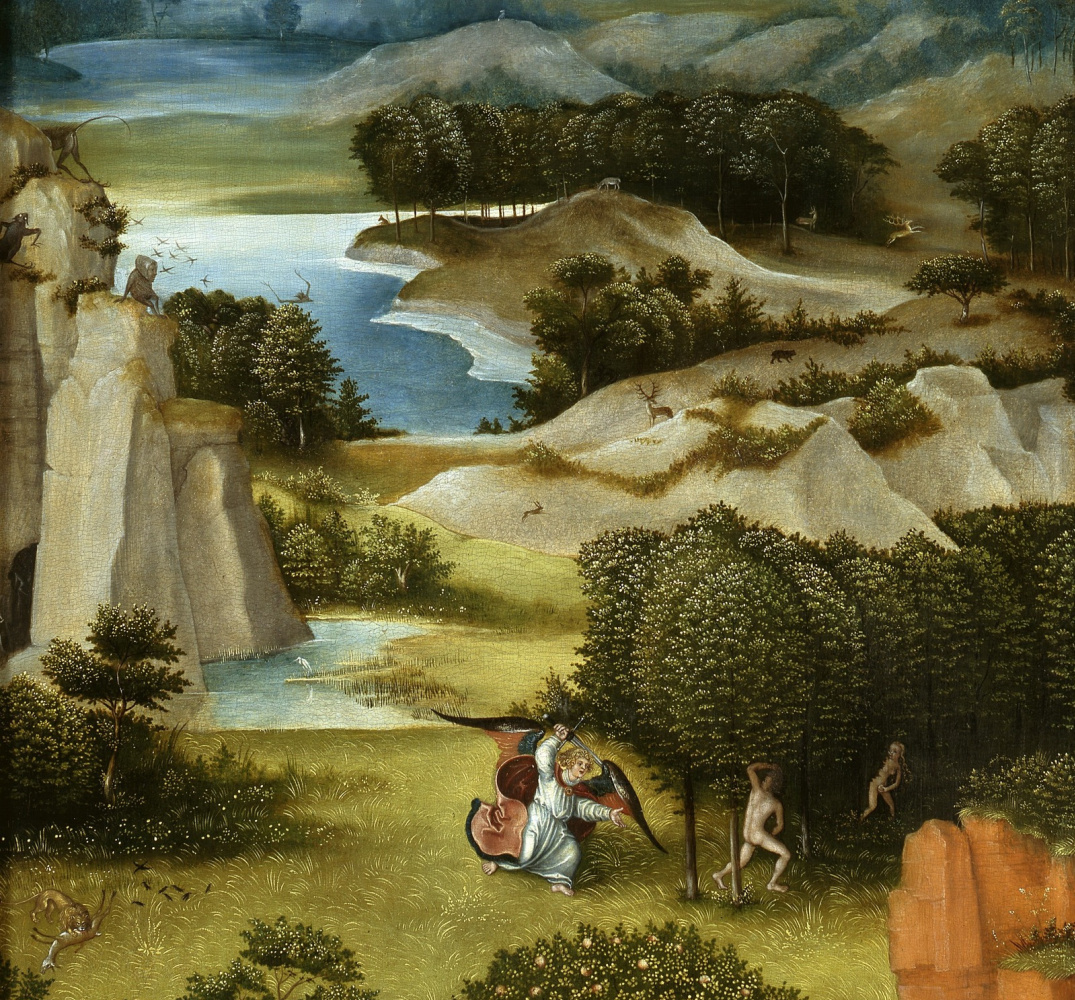 Lucas Cranach the Elder. Altar. The Last Judgment (according to Jerome Bosch) left panel Paradise Picture gallery of old masters, Berlin detail
