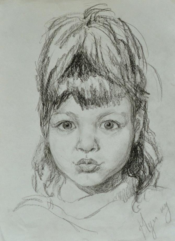 Svetlana Anatolyevna Dodu. Portrait of Bozhenka