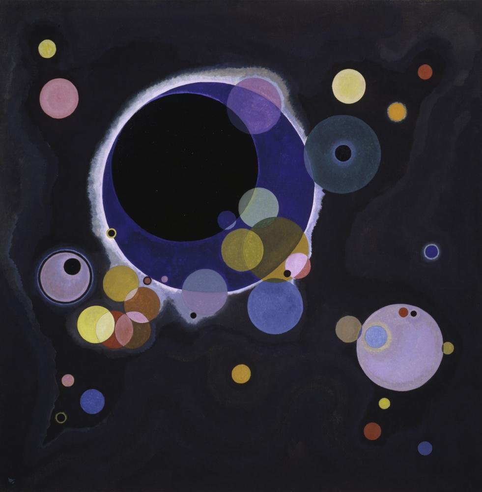 Wassily Kandinsky. Several circles