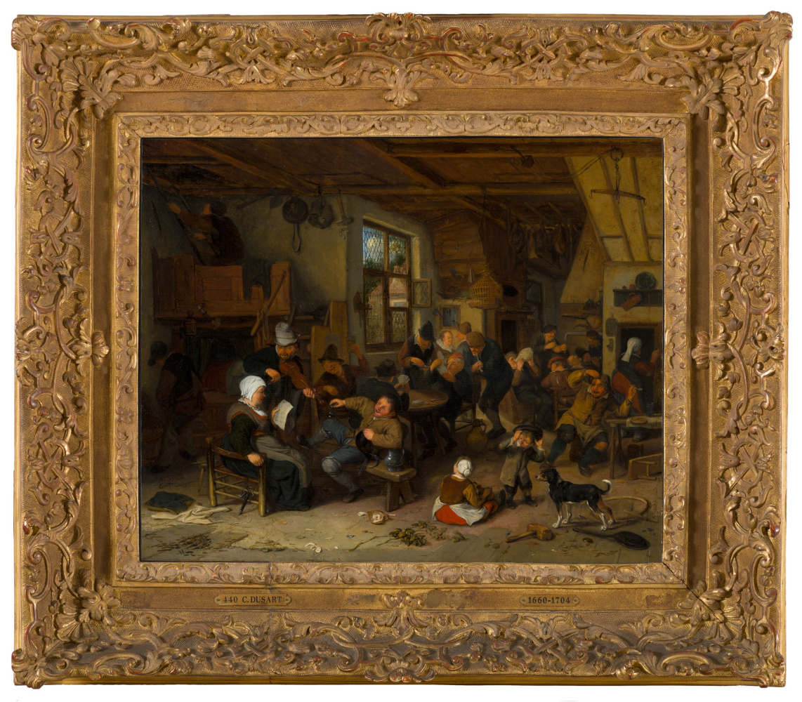 Peasants in the tavern (in collaboration with Cornelis by Dusetos)
