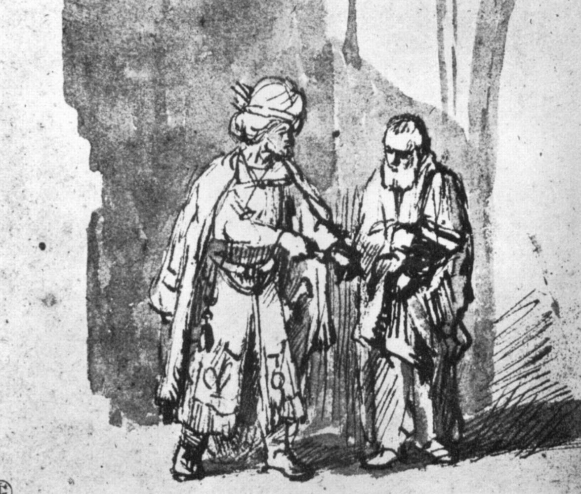 Рембрандт Харменс ван Рейн. Давид поручает Нафану воспитание сыновей