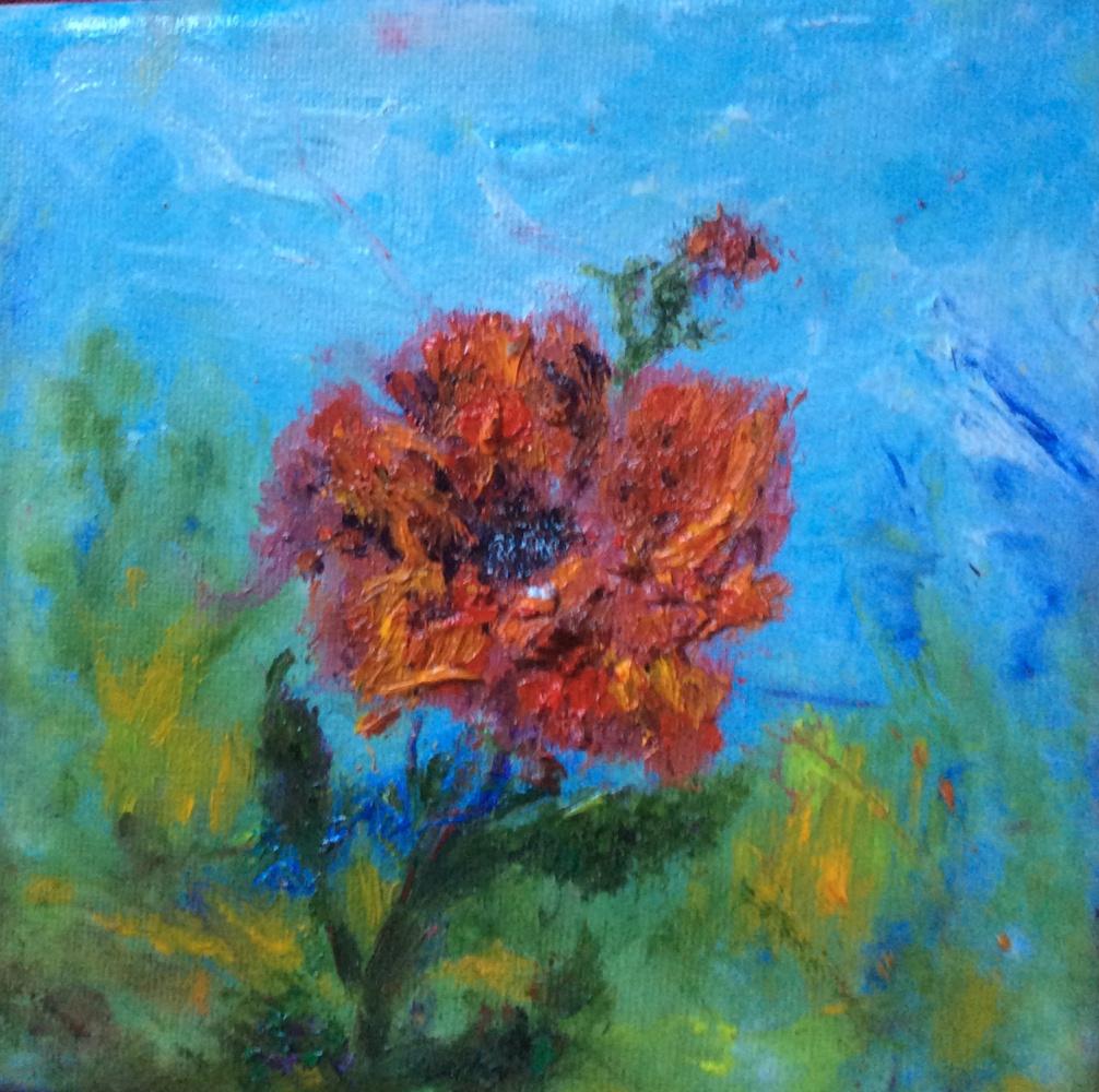"Rita Arkadievna Beckman. Series ""Portraits of Favorite Flowers"" - Poppy"