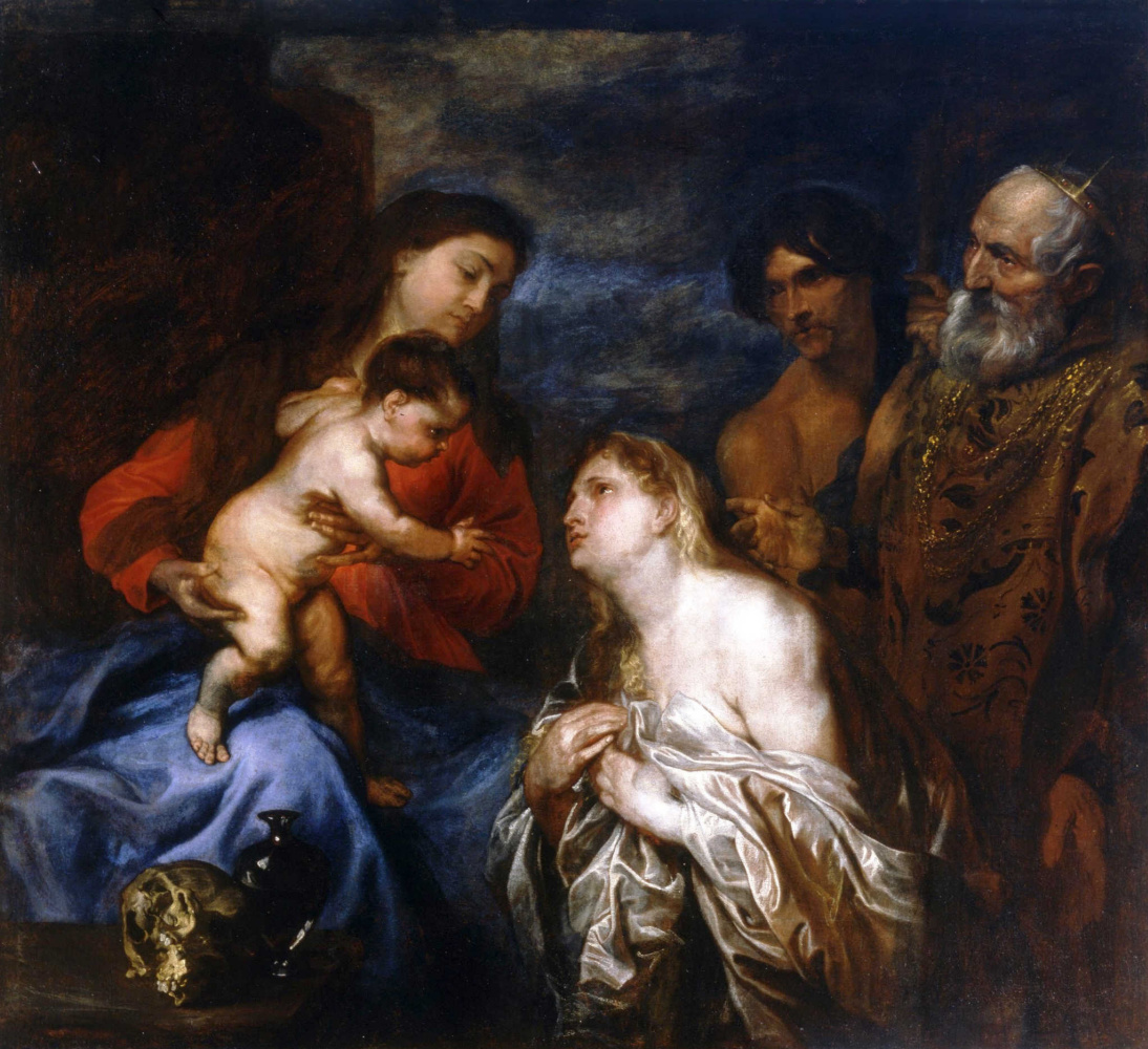 Anthony van Dyck. Madonna and child with repentant sinners