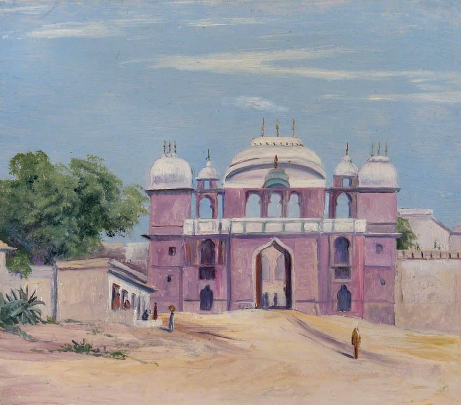 Marianna North. Rajah Palace Gate, Benares, India