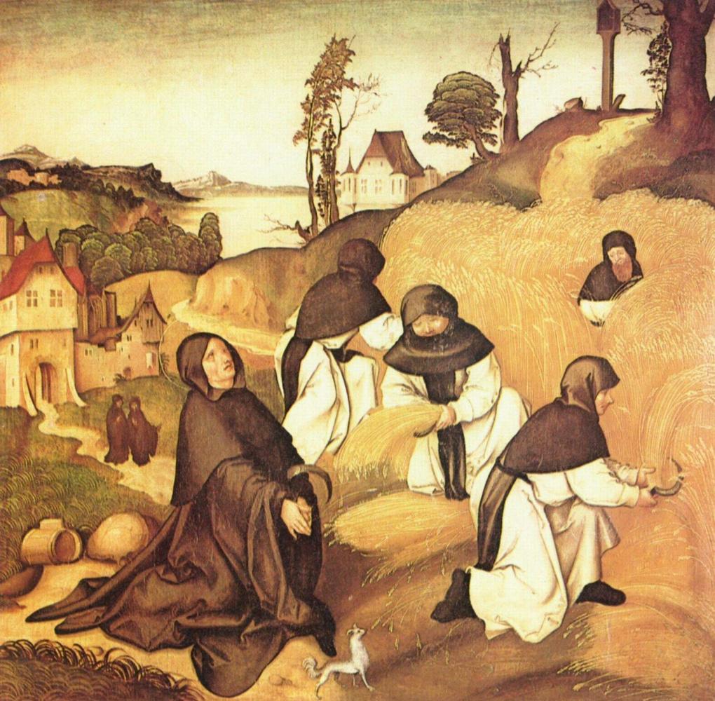 Йорг Брей-Старший. Алтарь Святого Бернарда: Сцены из жизни св. Бернарда