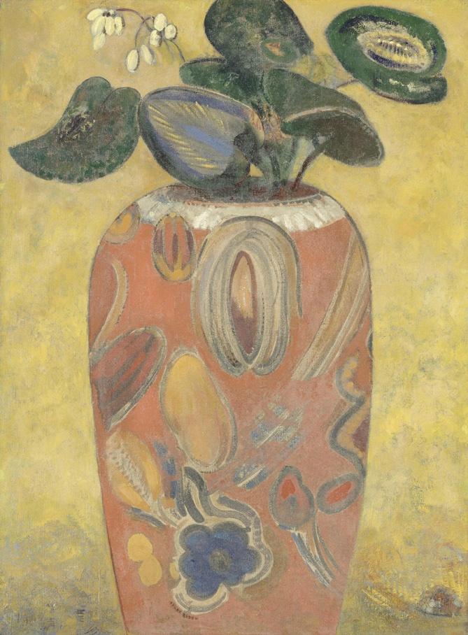 Odilon Redon. Green plant in vase