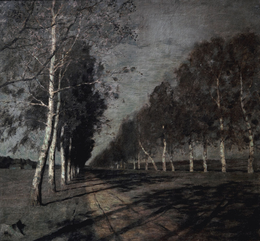 Isaac Levitan. Moonlit night. A great way