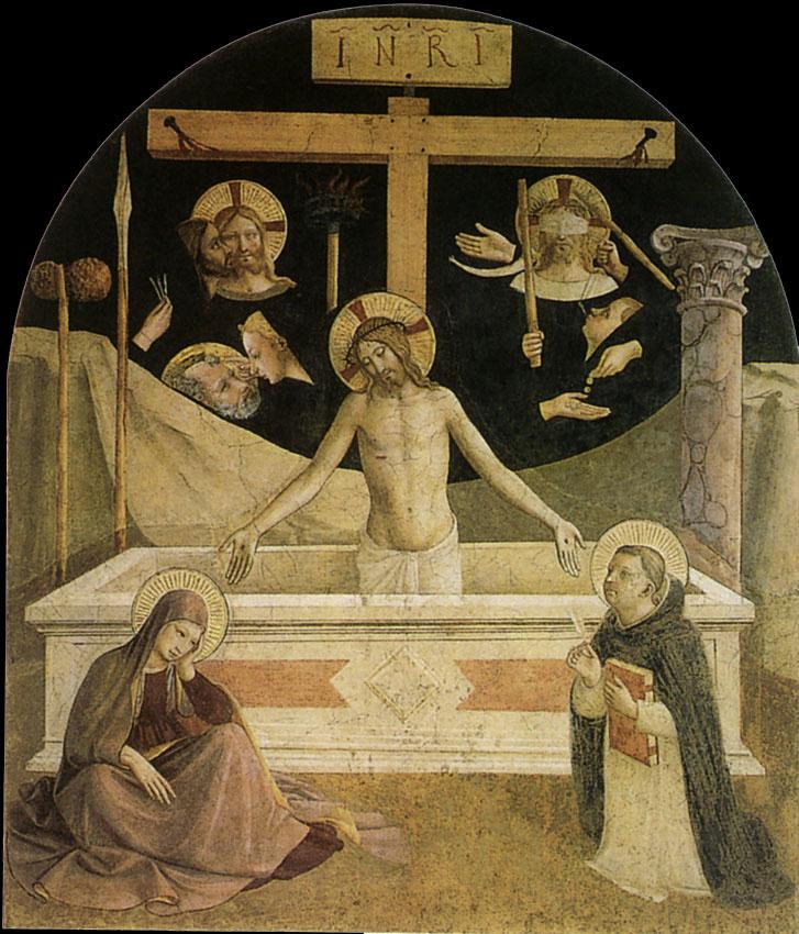 Фра Беато Анджелико. Муж Скорбей. Фреска монастыря Сан Марко, Флоренция