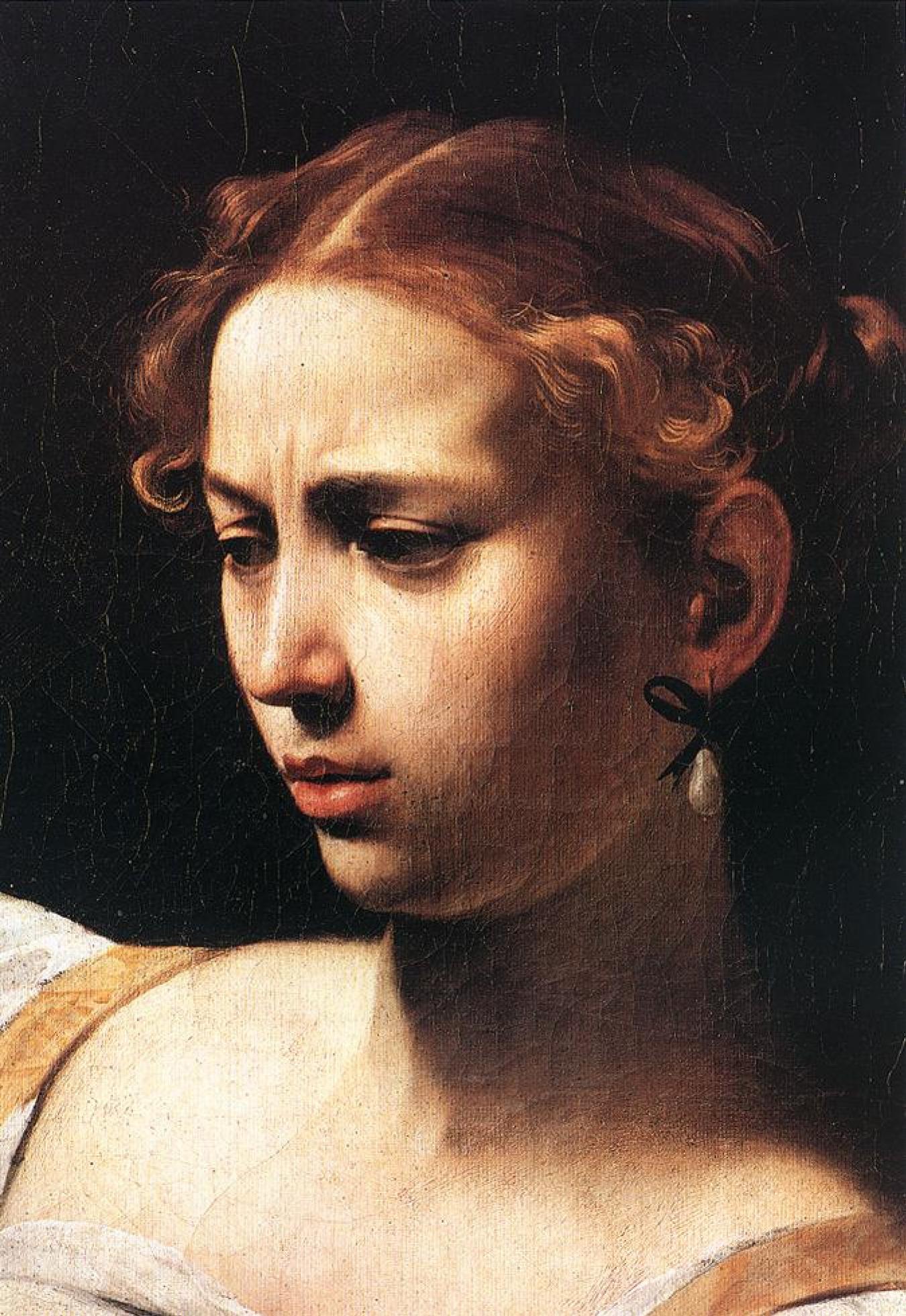 Микеланджело Меризи де Караваджо. Юдифь, убивающая Олоферна. Фрагмент
