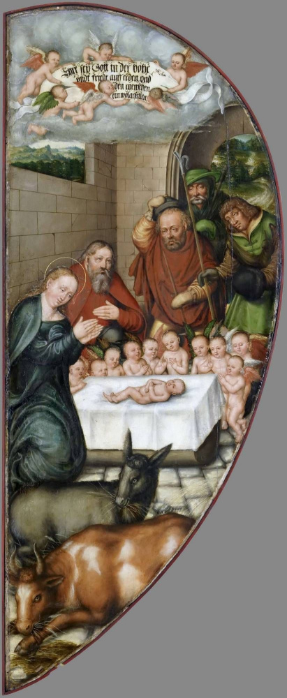 Lucas the Younger Cranach. The Altar Colditzer. Left inner wing: Christmas