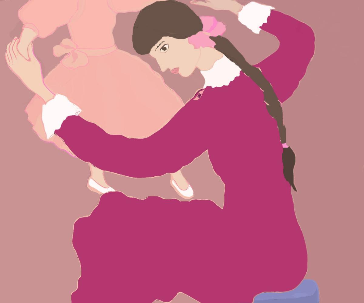 Svetlana Sisina. Girl with a doll