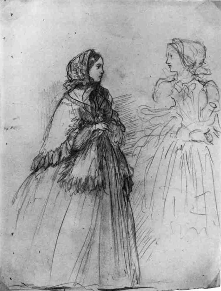 Эдгар Дега. Два молодые дамы в костюмах для прогулки
