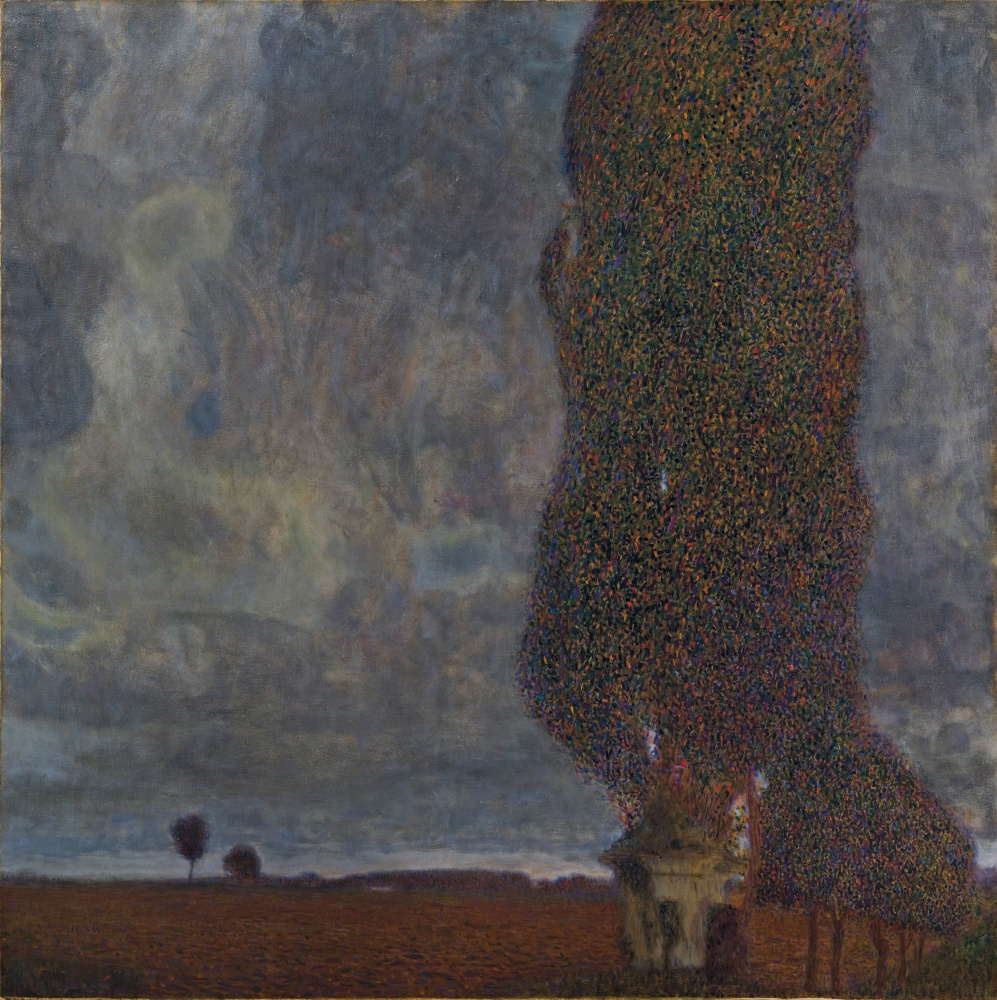 Gustav Klimt. The big poplar II (thunderstorm Approaching)