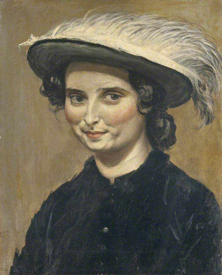Augustus John. Dorelia McNeill in a Feathered Hat