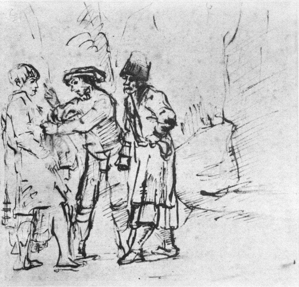 Рембрандт Ван Рейн. Братья хватают Иосифа