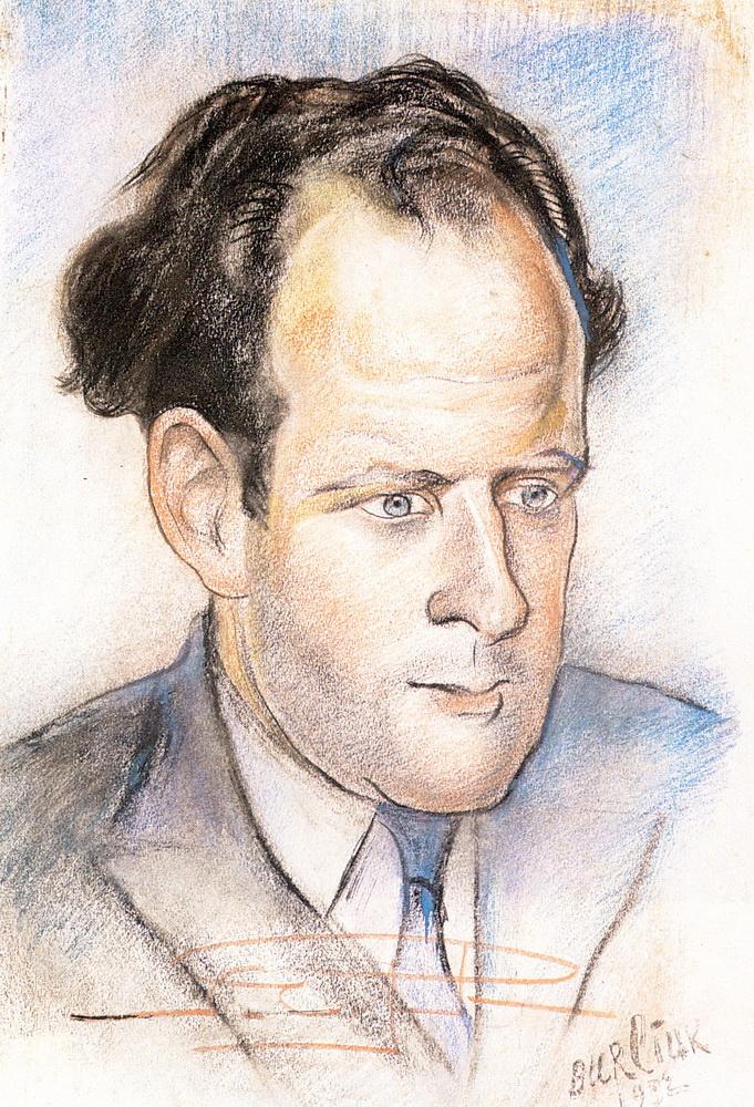 Давид Давидович Бурлюк. Портрет Сергея Эйзенштейна. 1932