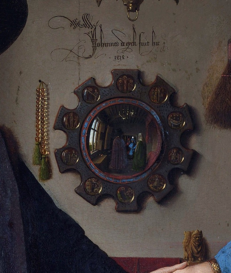 Jan van Eyck. The Arnolfini portrait (detail)