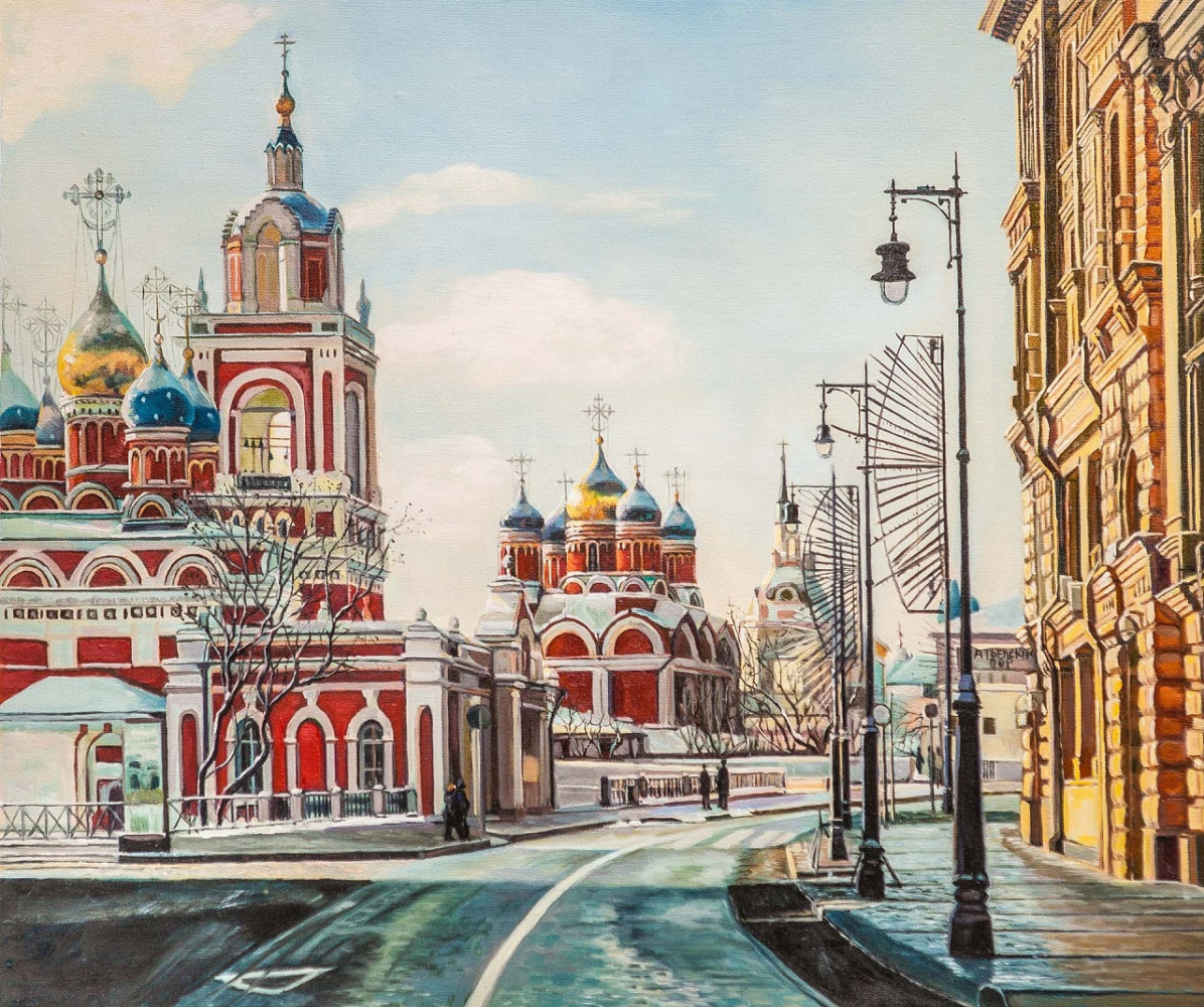 Savely Kamsky. Walking around Varvarka. Church of St. George the Victorious