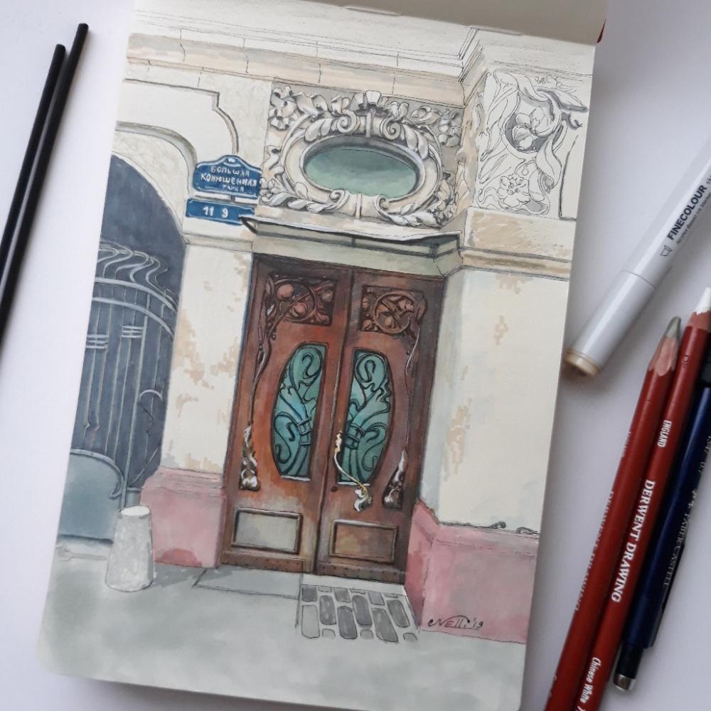 Нелли Владимировна Фоминых-Игошина. Konyushennaya street in St. Petersburg