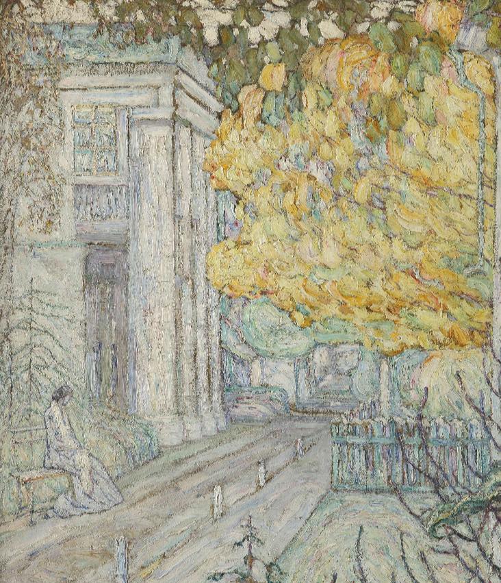 Абрам Аншелевич Маневич. In the estate