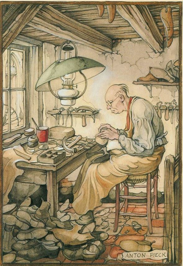 Anton Pieck. Masters and apprentices. Shoemaker