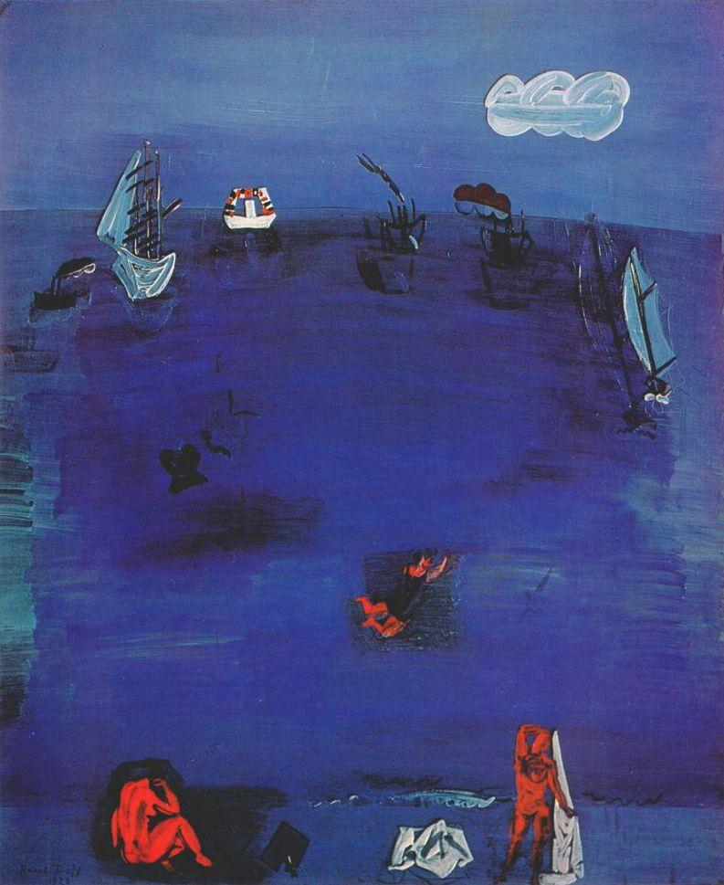 Raoul Dufy. The Mediterranean sea