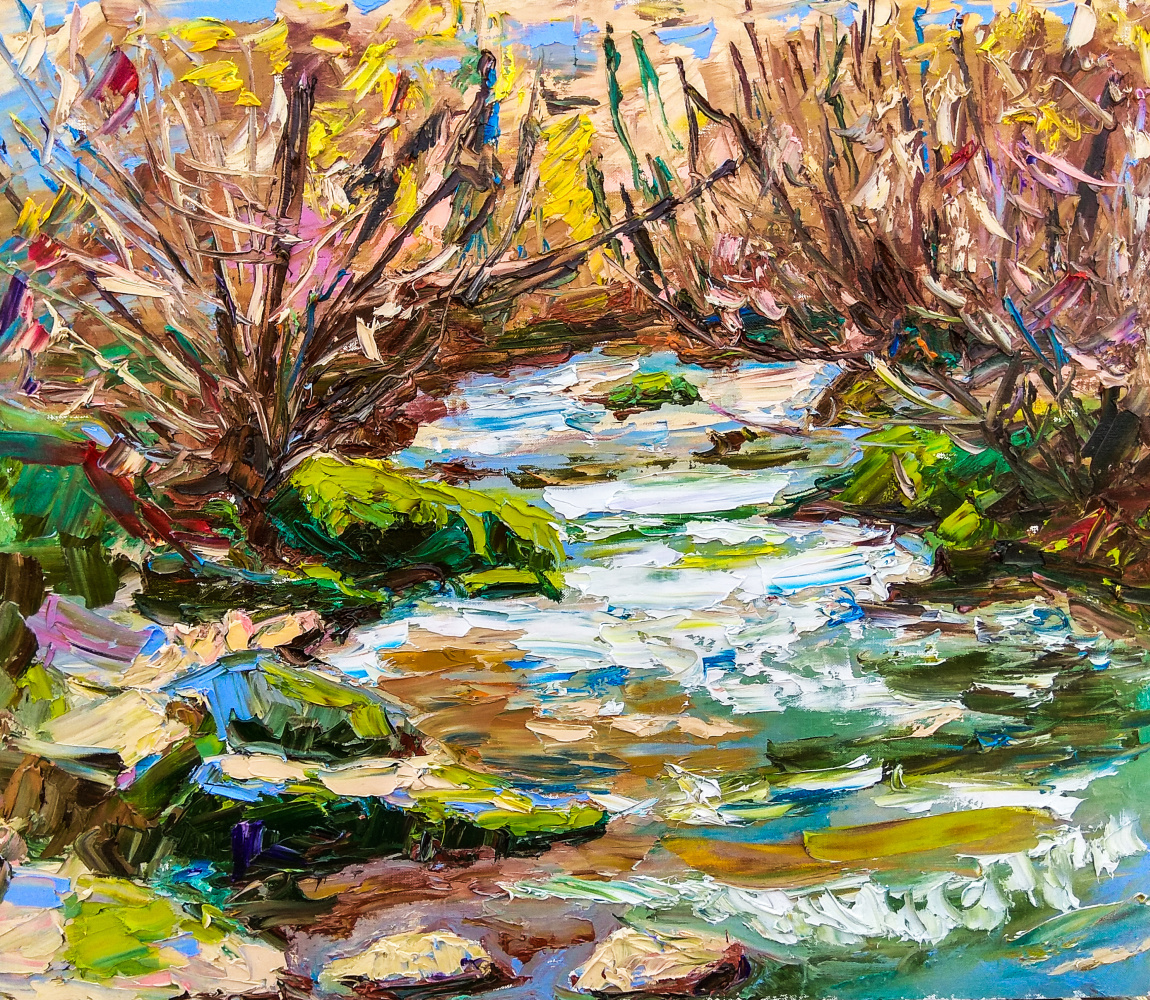 "Artem Konstantinovich Shubin. ""Spring on Ayan, Crimea"""