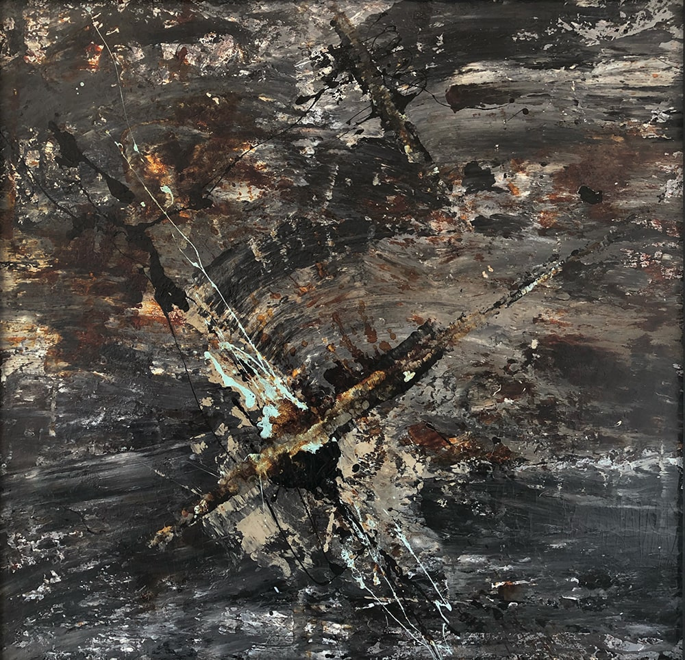 """Eugene Grigorievich Mikhnov-Voitenko. Abstract composition. From the cycle """"Abyss"""""""