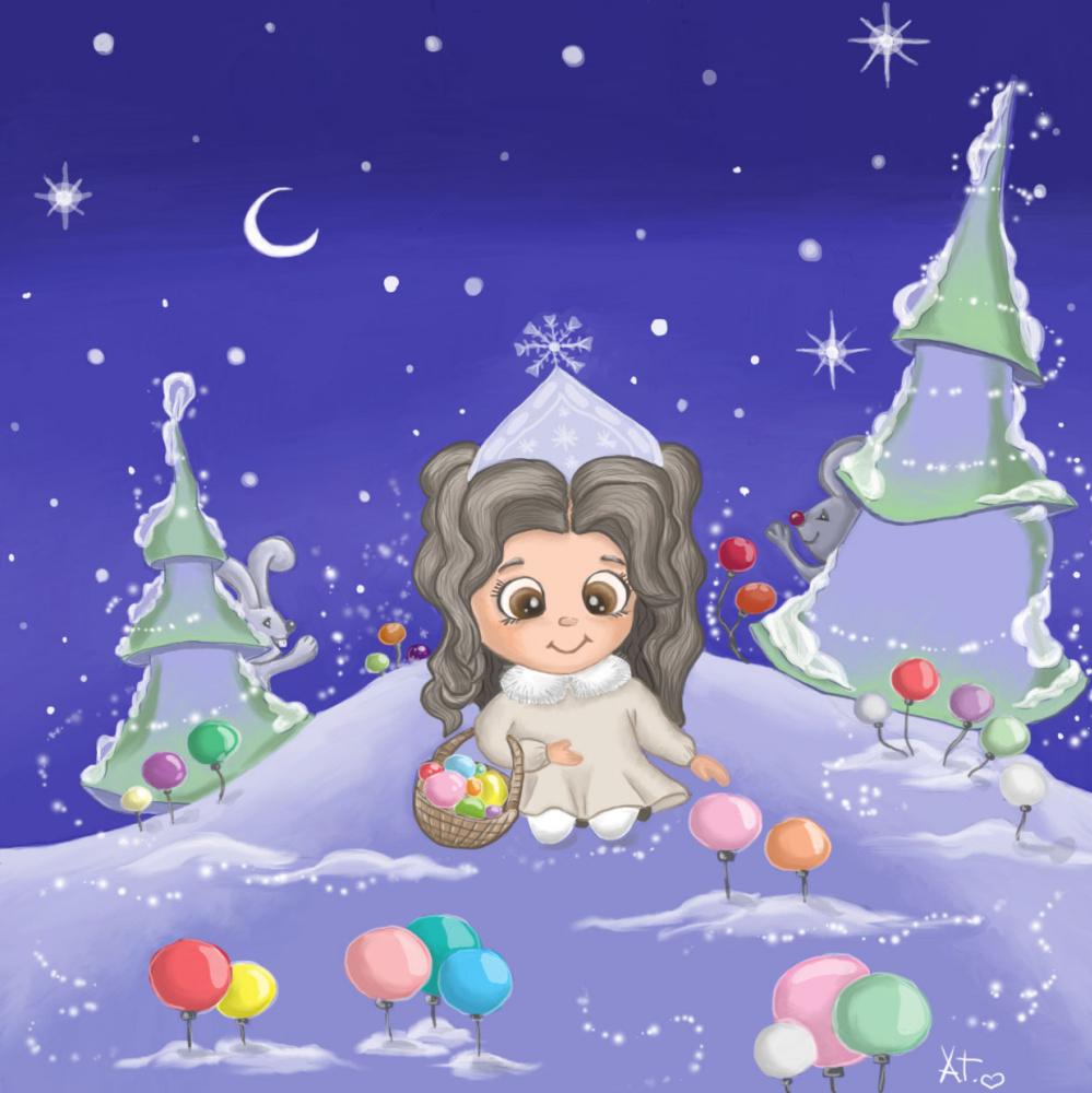 Alena Gindulina. Snow maiden