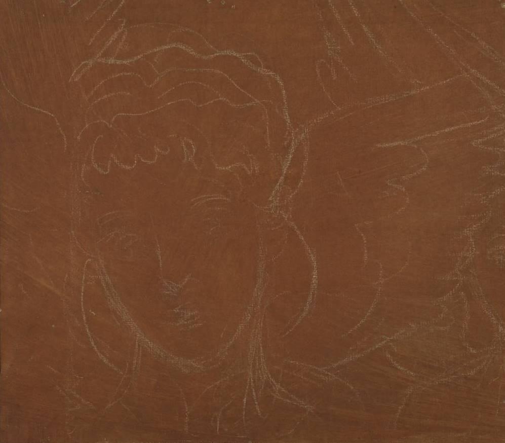 Данте Габриэль Россетти. Голова ангела. Эскиз