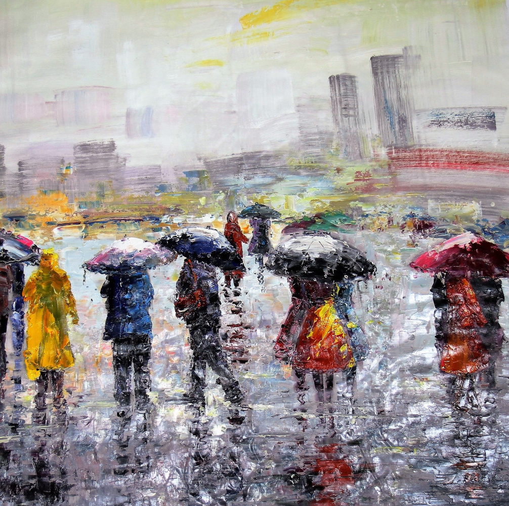 (no name). City in the rain N2