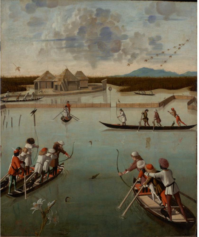 Vittore Carpaccio. Hunting in the lagoon