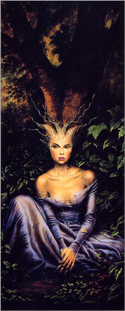 Фангорн Федра. Девушка с черными ногтями в лесу