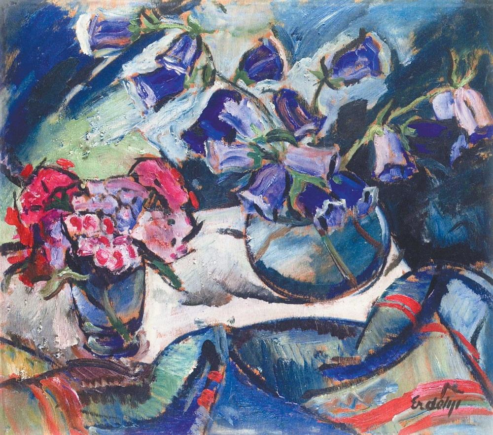 Adalbert Mikhailovich Erdeli. Still life with bluebells