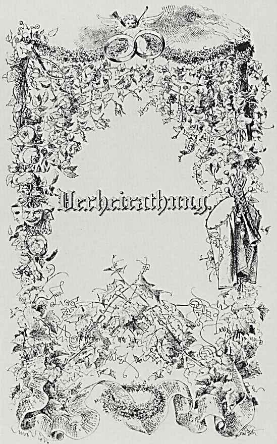 """Адольф фон Менцель. """"Альбом для увековечения памяти о важных событиях семейной жизни"""", Свадьба"""