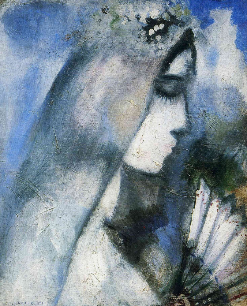 Marc Chagall. Bride with a fan