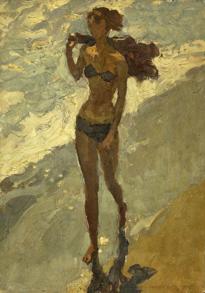 Юрий Николаевич Егоров. На пляже